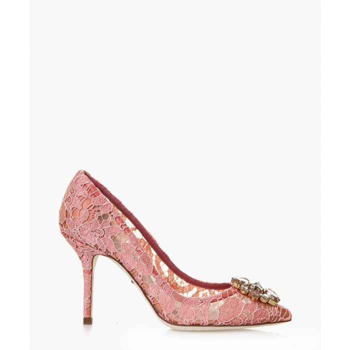 Image for Bellucci pink lace and swarovski heels
