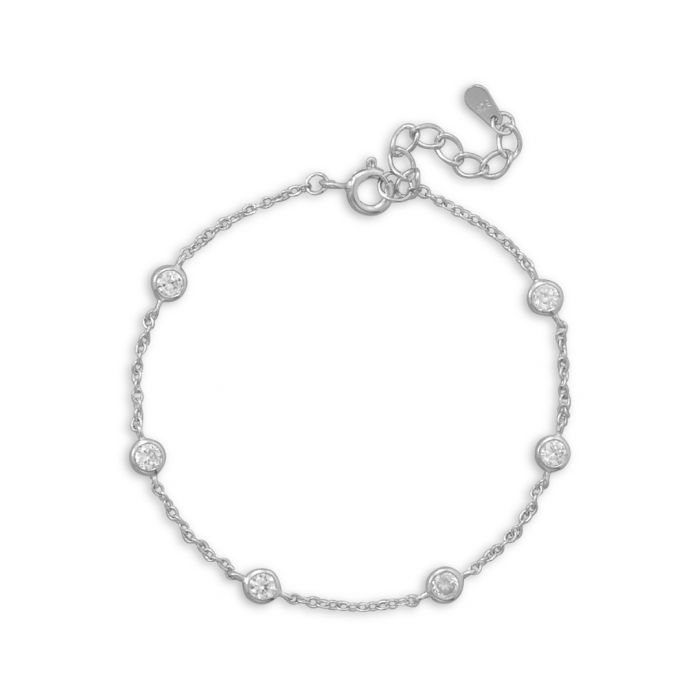 Image for Sterling silver and cubic zirconia bracelet