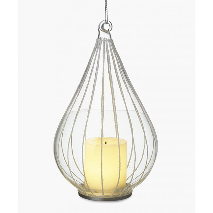 Image for 2pc Glass bauble & candle