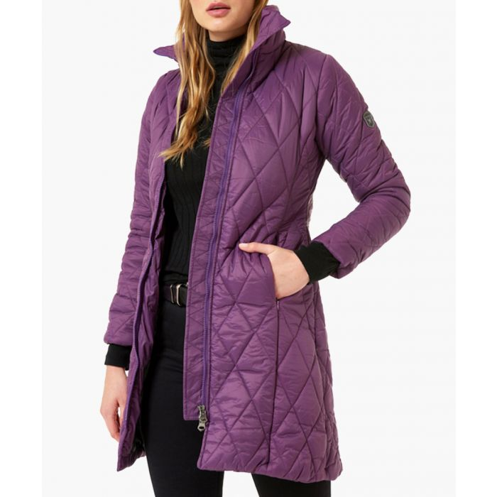 Image for Damson quilted puffer coat