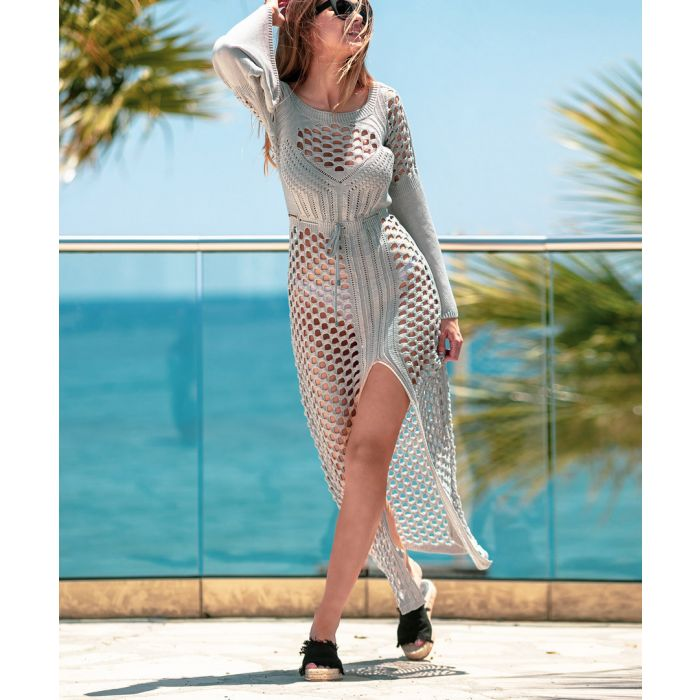 Image for Grey knitted bamboo dress