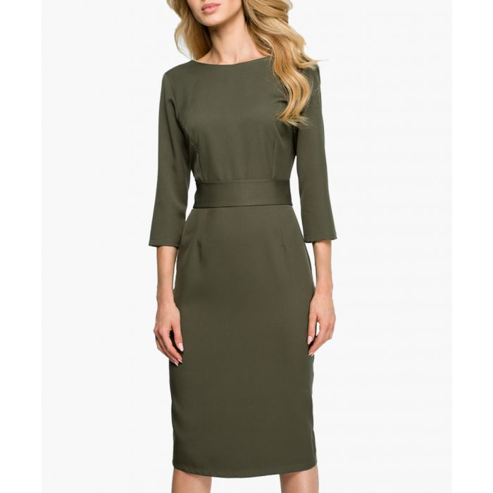 Image for Olive banded pencil dress