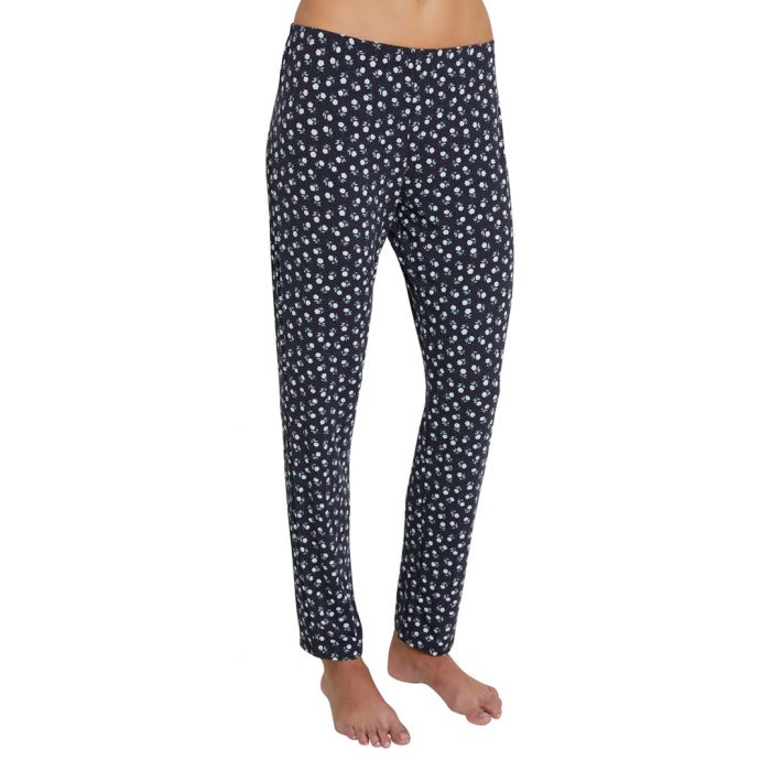 Image for Petite fleur black and ivory trousers