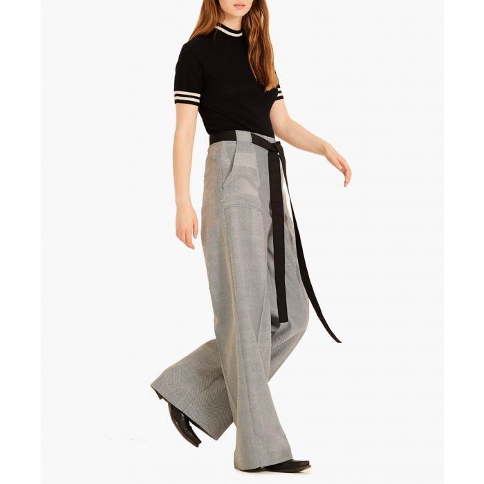 Image for Black and white Herringbone trousers