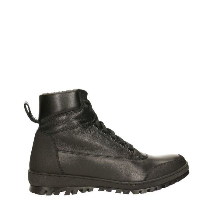 Image for Black leather lace-up boots