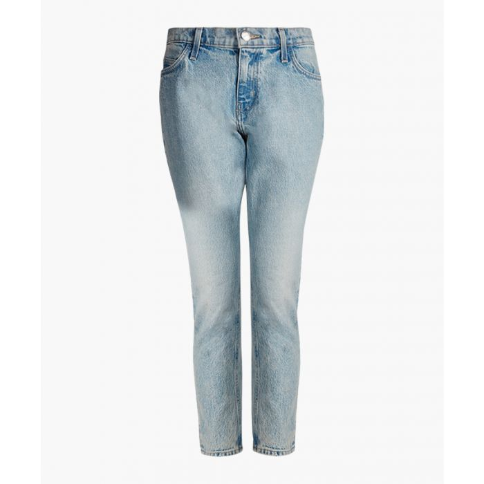Image for The Cropped light indigo straight jeans