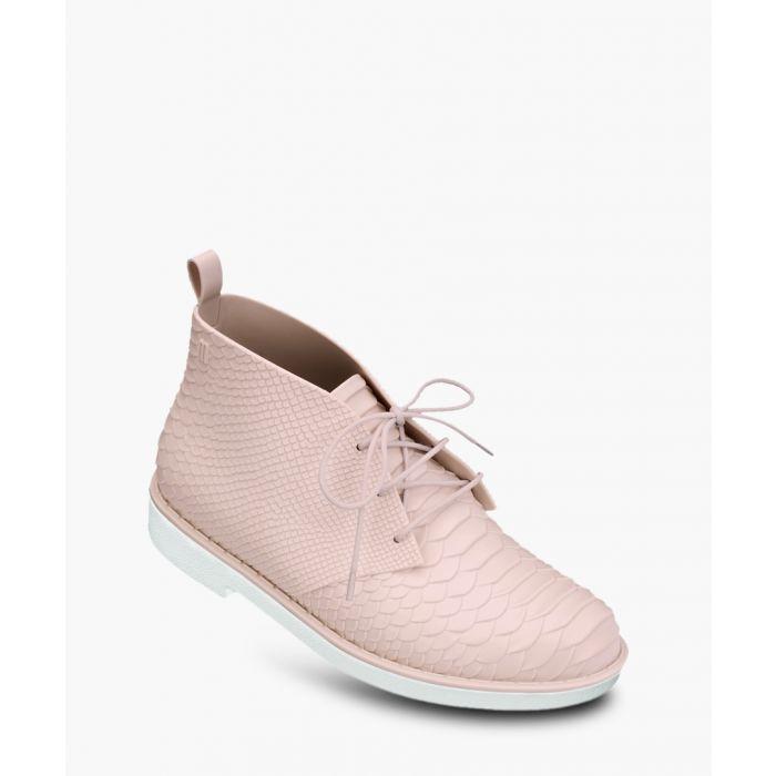 Image for Baja pale pink snake-effect desert boots