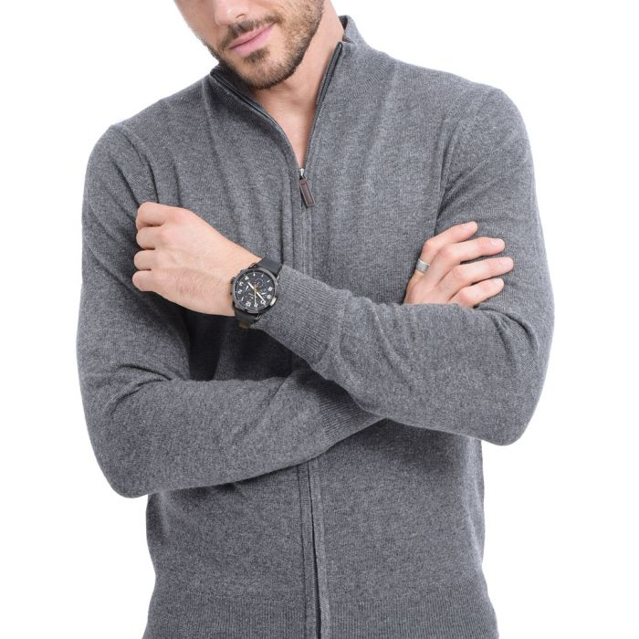 Image for Wolf cashmere blend zip-up cardigan
