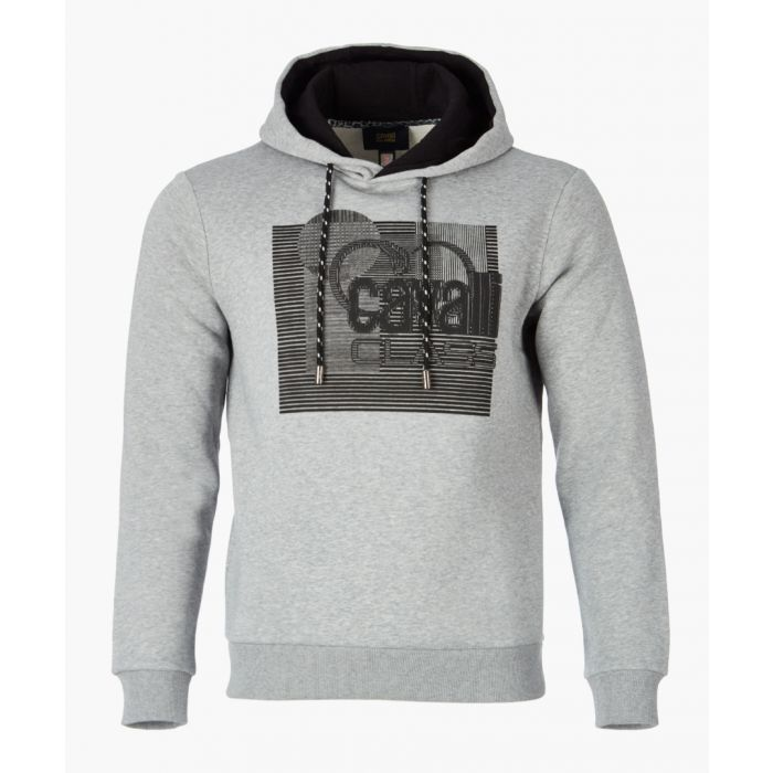 Image for Grey logo printed hoodie