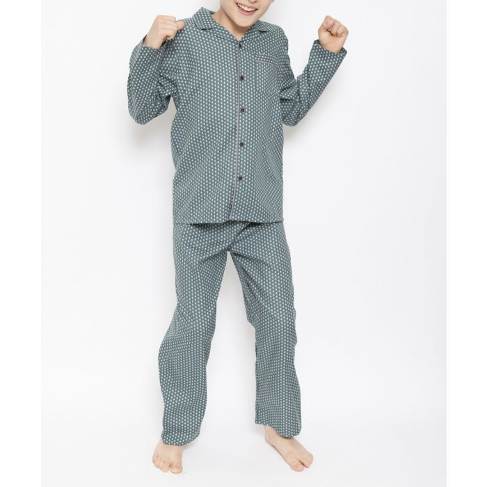 Image for 2pc Alfie green tile printed pyjama set