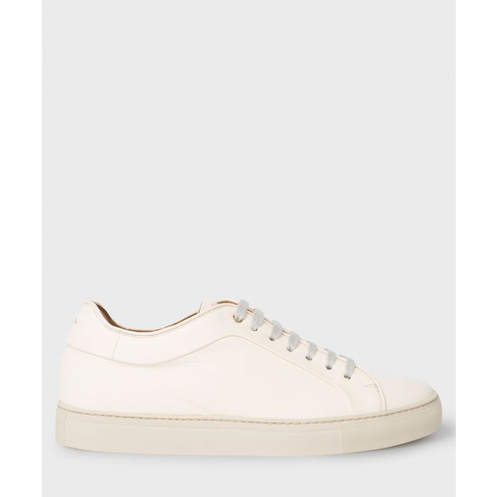 Image for Cream leather sneakers