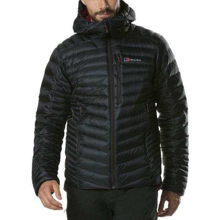 Image for Black hooded puffer coat