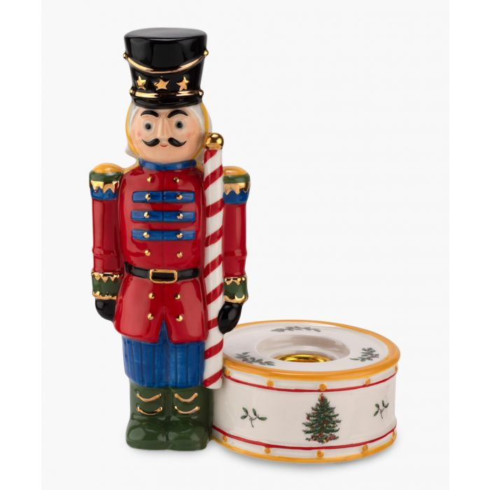Image for Red nutcracker candle holder