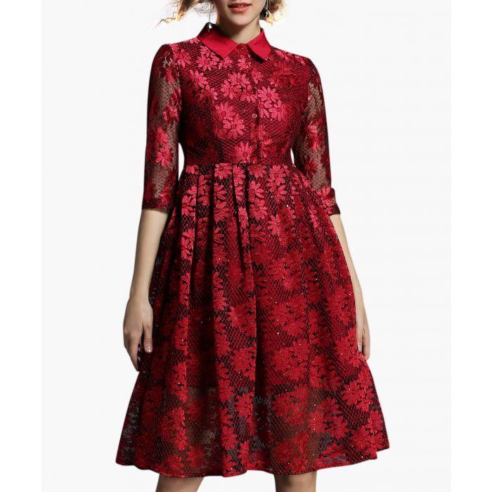 Image for Scarlet 3/4 sleeve knee length dress