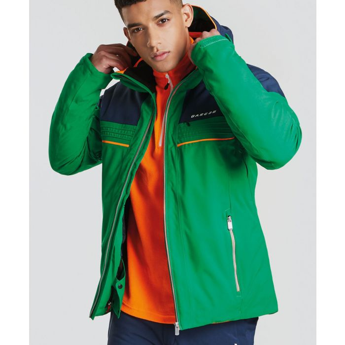 Image for Green hooded coat