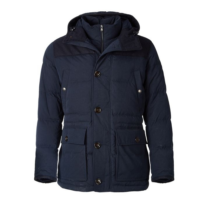 Image for Navy hooded country parka