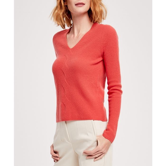 Image for Granat cashmere blend V-neck pullover
