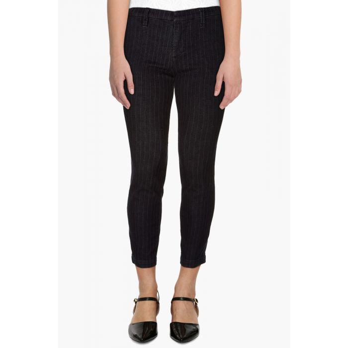 Image for Clara black mid-rise peg leg trousers