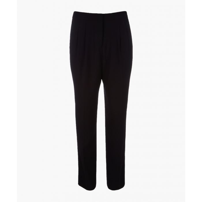 Image for Black pleated trousers