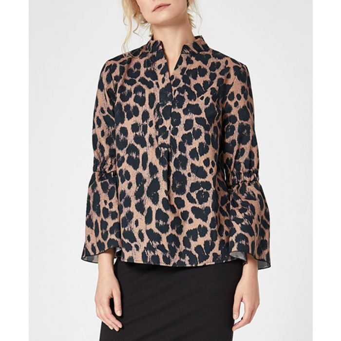 Image for Leopard print bell sleeve shirt