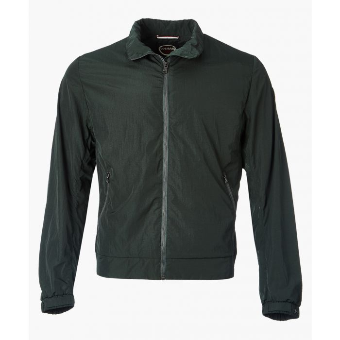 Image for Botanical zip-up collared jacket