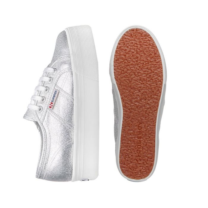 Image for Silver-tone platform sneakers