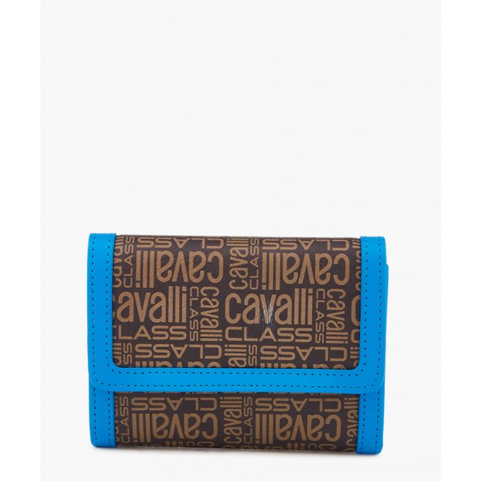 Image for Monogram brown and blue leather wallet