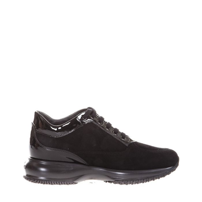 Image for Black patent leather sneakers
