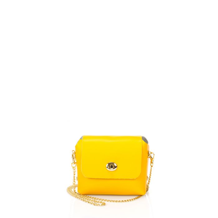 Image for Ghemme yellow leather crossbody