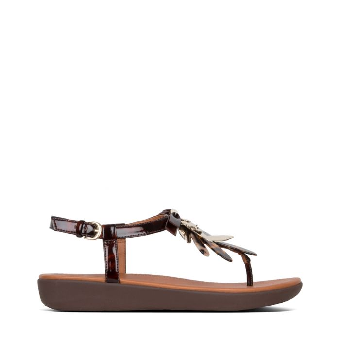 Image for Tia chocolate brown leather sandals