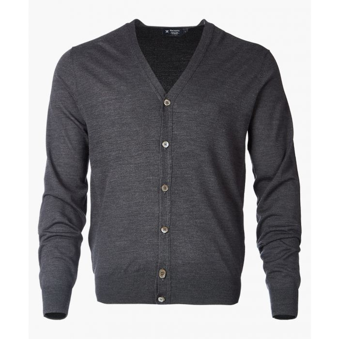 Image for Charcoal button-up cardigan