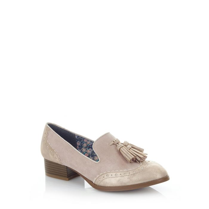 Image for Tara champagne tassel loafers