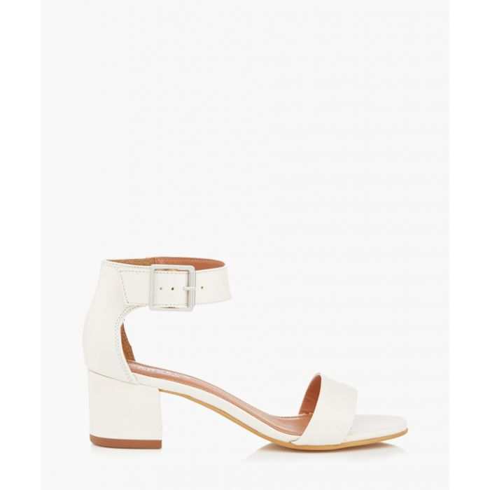 Image for Shadow white leather mid heels