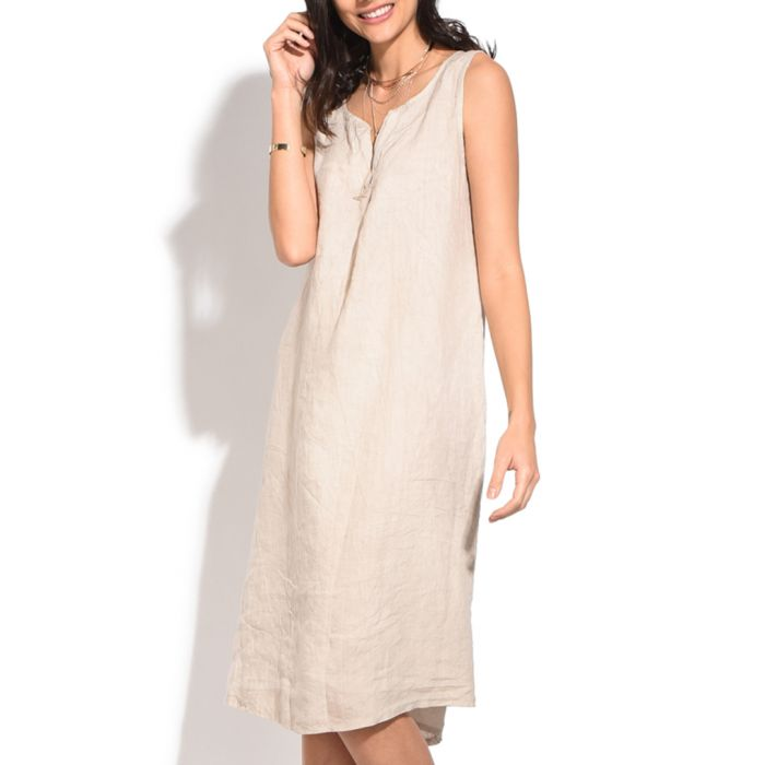 Image for natural pure linen dress