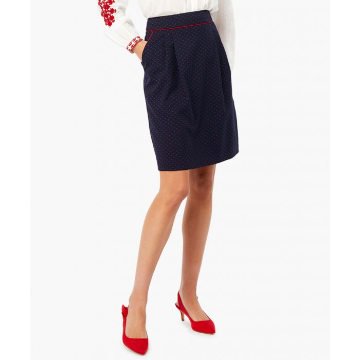 Image for Cecile navy spotted mini skirt