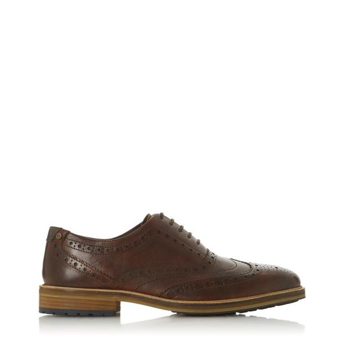 Image for Burt Di brown leather brogues