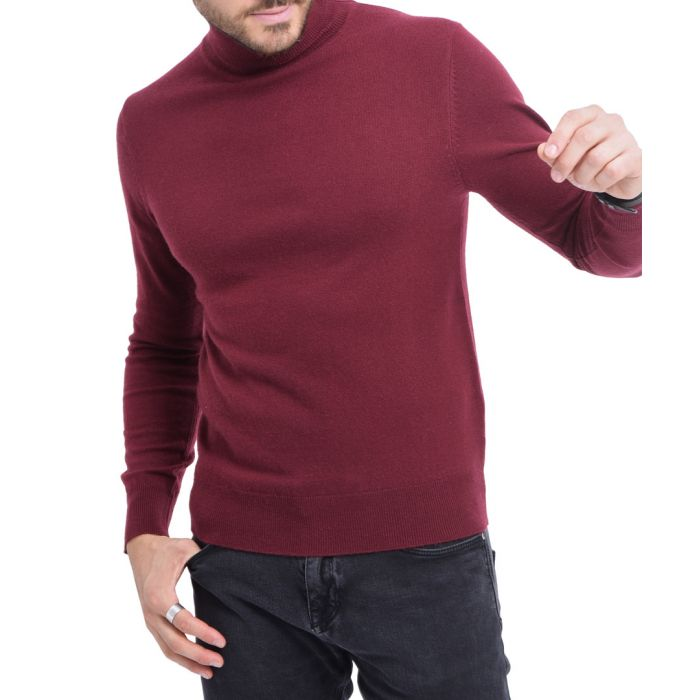 Image for Red cashmere blend turtleneck sweater
