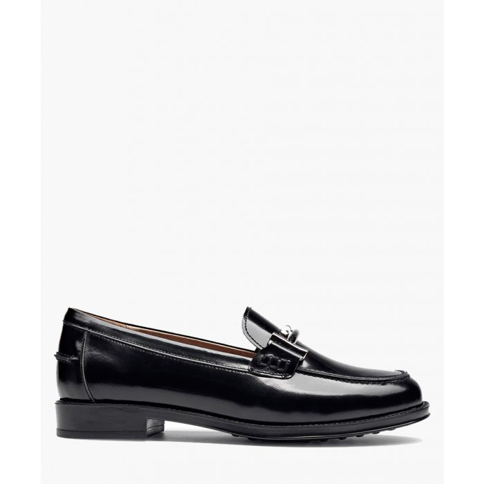 Image for Black patent leather loafers