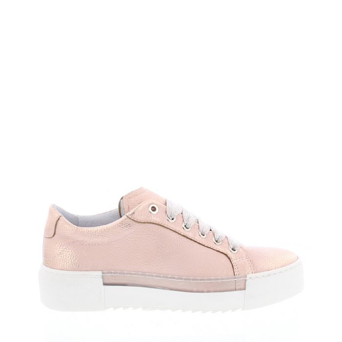 Image for BcapsuleX pale pink leather sneakers