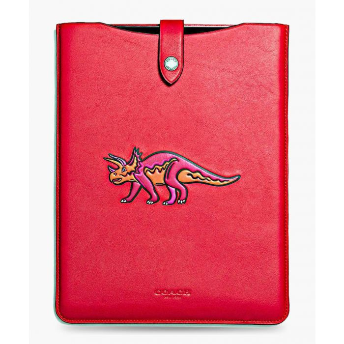 Image for Beast red leather iPad sleeve