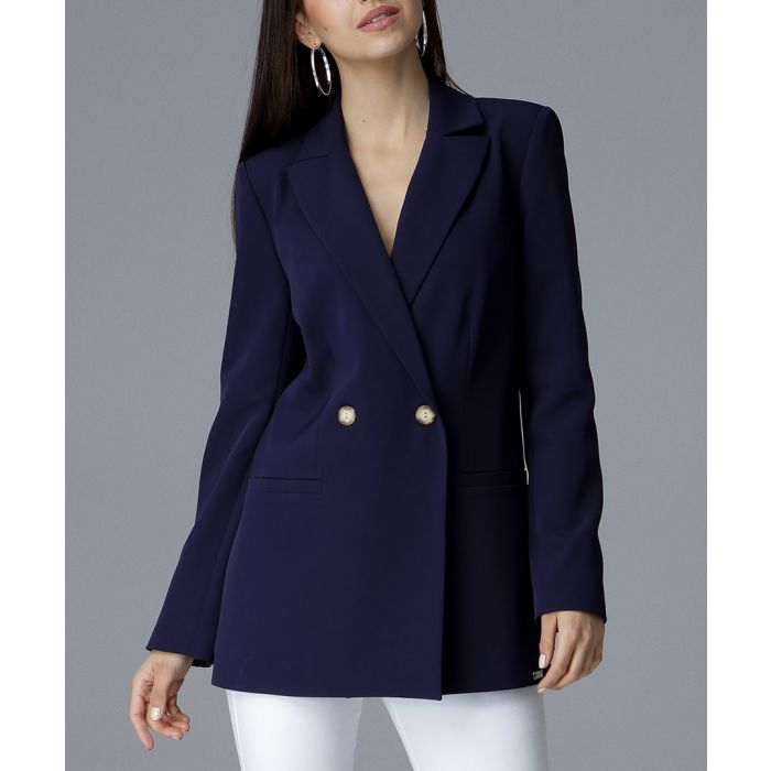 Image for Navy two-button blazer