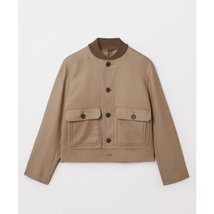 Image for Beige pure cotton button-up coat