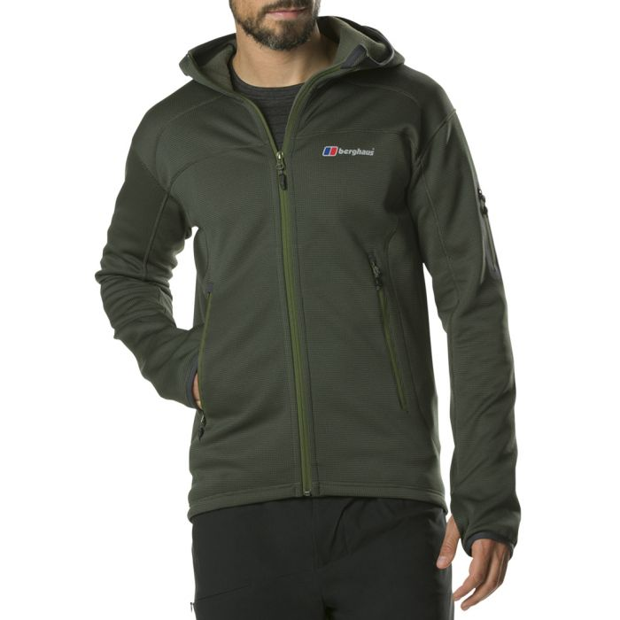 Image for Dark green zip-up jacket