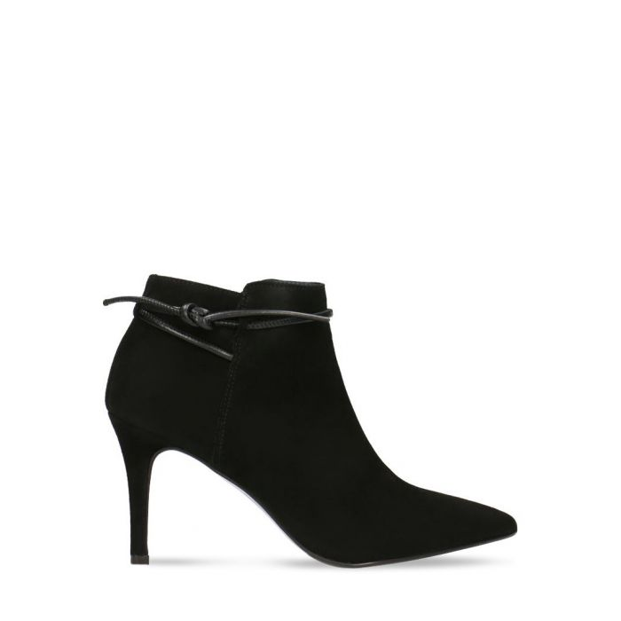 Image for Black suede heeled ankle boots