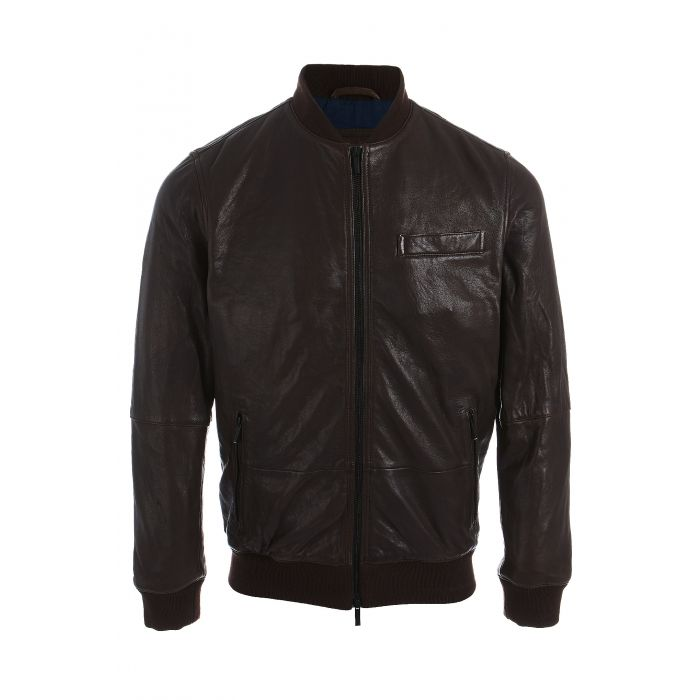 Image for Men s Genuine Leather Casual Jacket