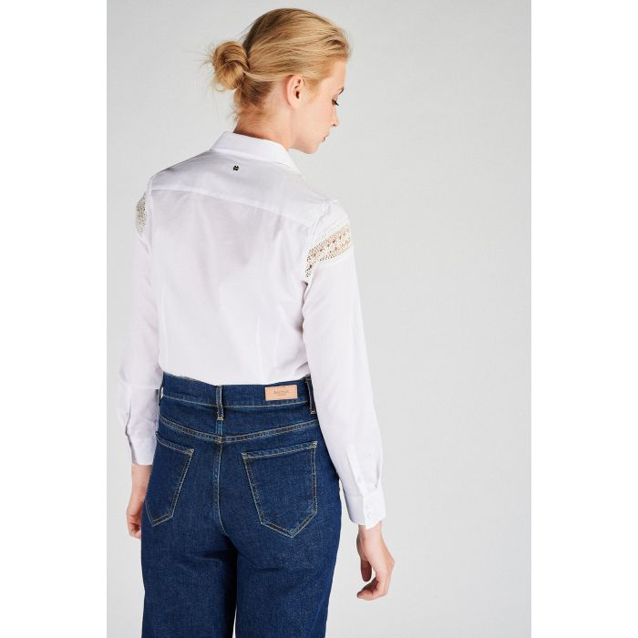 Image for Women s  Classic Slim Fit Shirt with Lace