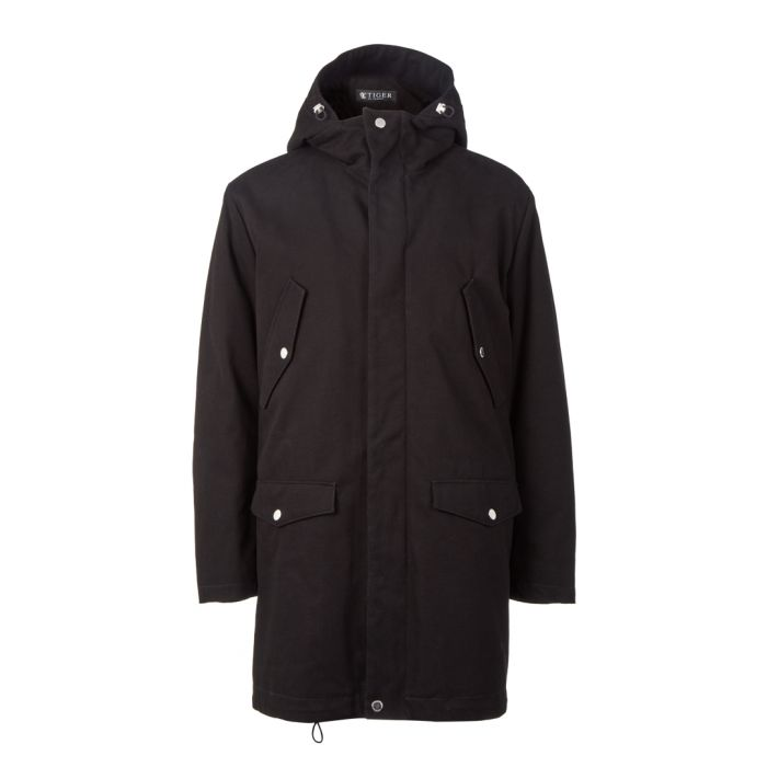 Image for Timid black pure cotton parka