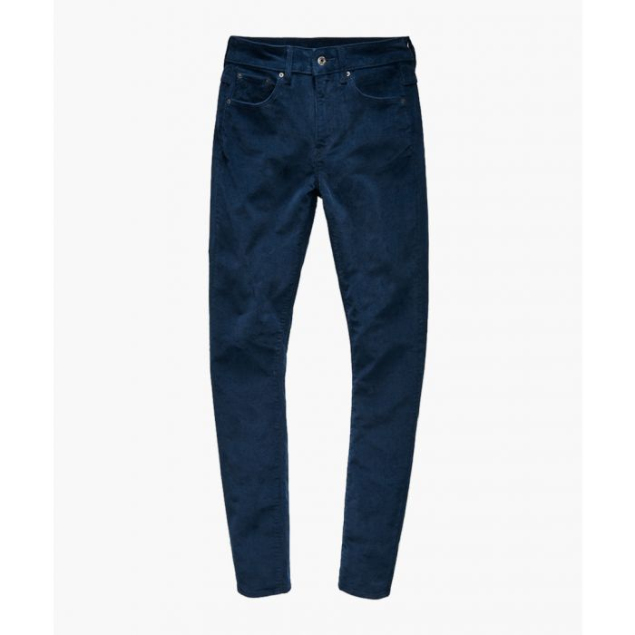Image for 3301 dark blue high waist skinny jeans