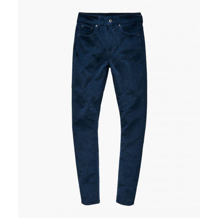 Image for 3301 dark blue high waist skinny jeans