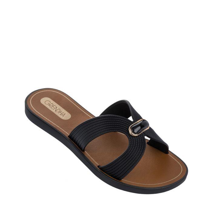 Image for Essence black sandals